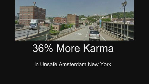 36% More Karma in Unsafe Amsterdam New York