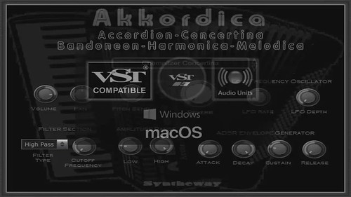 Akkordica Virtual Accordion, Concertina, Bandoneon, Harmonica and Melodica VST VST3 Audio Unit EXS24 KONTAKT