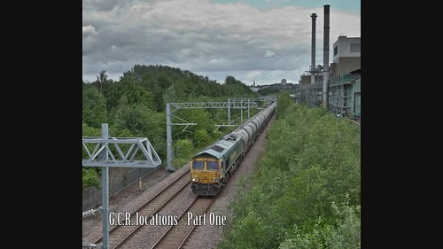 Five freights at 3 locales on the GCR line south & north of Rotherham - 86Mby MP4 video