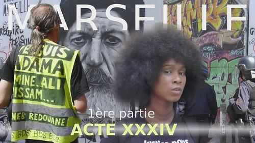Acte 34 Marseille 1ère partie, les gilets jaunes  et le comité Adama contre les violences policières