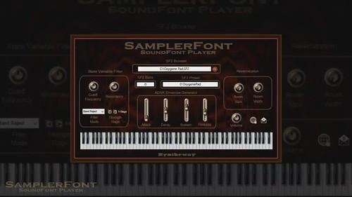 SamplerFont SoundFont Player VST VST3 64 bit for Windows and Audio Unit for Mac. Sampler for SoundFont files in .sf2 format (2.04 compliant)