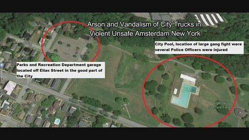 Arson and Vandalism of City Trucks in Violent Unsafe Amsterdam New York