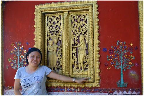 Me with Mosaic Tree of Wat Khili at Th Sakkarin