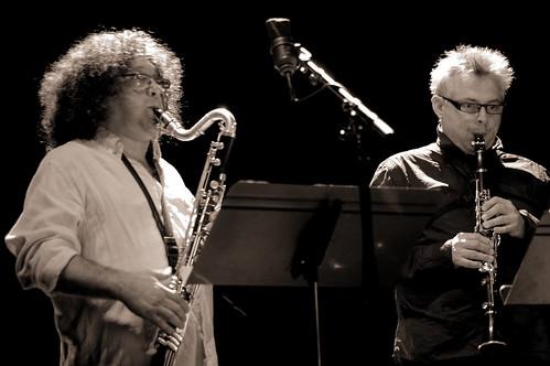 Sylvain Kassap et Jean-Marc Foltz; la fine fleur de la clarinette du jazz contemporain