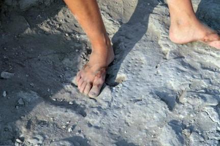 Sussita huella sandalia legionario romano 1