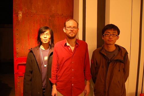 Lawrence Li, me, Wang Changcun