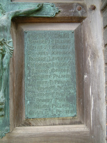 St Peter Mancroft Great War Memorial Panel 2: Arthur Green to Charles Potter