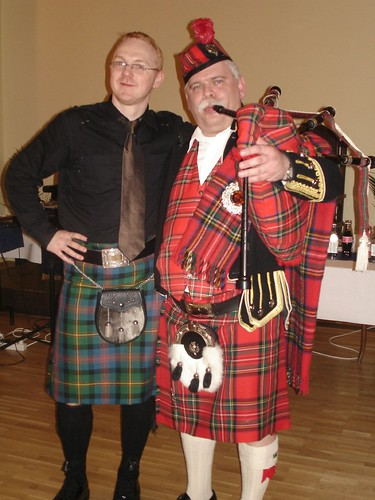 Michael with Keri Gyurgy - Hungary's first bagpiper