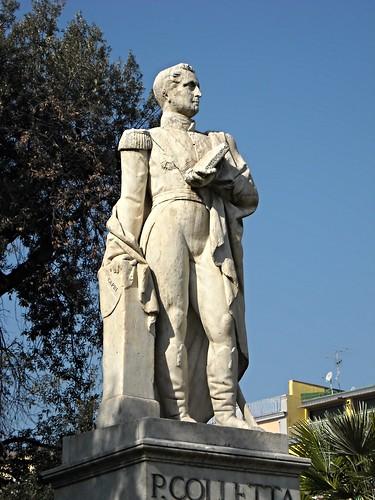 Monument (1866) to Pietro Colletta (Naples 1775-Florence 1831) friend of Giacomo Leopardi - Sculptor Gennaro Calì (Naples 1799-1877) - Villa Comunale in Naples