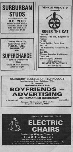 NME Concert Ads (5) - April 1978