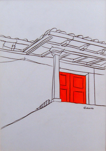 Porta vermelha