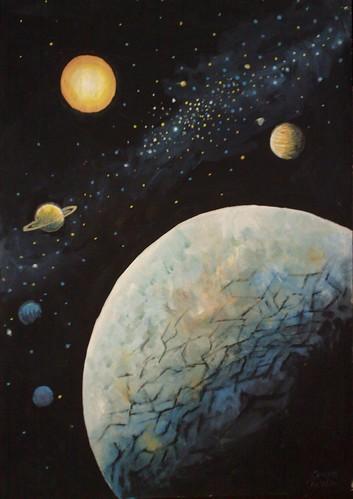 Europa Jupiter Saturn soarele si inca doi sateliti