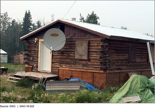 Figure 3: A Building in Beaver, Alaska Serviced with a Satellite Internet Connection