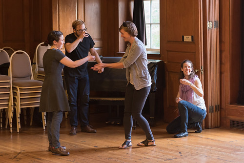 C&V Fellows participate in Improv session (lead by Terry Greiss). Photo by Steven Pisano