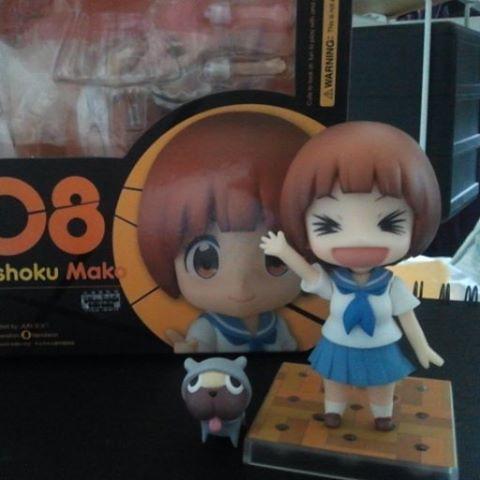 She arrived! #kawaii #Nendoroid #Mako #Mankanshouku along with her dog, Guts!  #anime #Killlakill #GoodSmileCompany