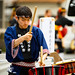 Cool Japanese guy playing drum