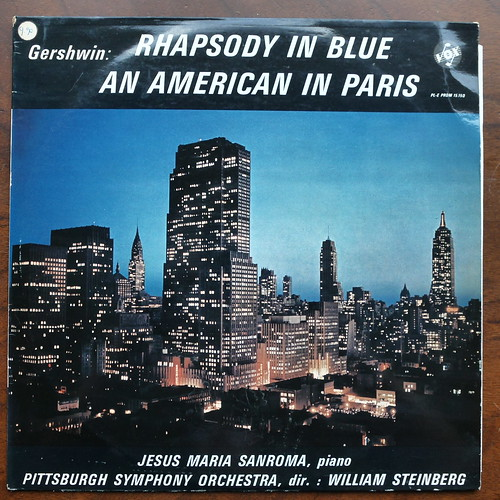 Gershwin - Rhapsody in Blue, An American in Paris - Jesus Maria Sanroma Piano, Pittsburgh SO, William Steinberg, Everest Vox PL-E PROM 15.150, France 1964