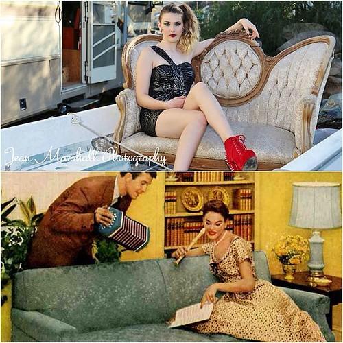 #thatwasthen #thisisnow #couch #ad #model #fashion #fashion #photograher #lakeelsinore #ocphotographer #fun @whitetrashwednesday #redneck #glam