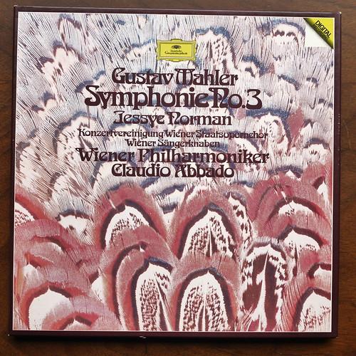 Mahler - Symphony No.3 - Jessye Norman Soprano, Konzertvereinigung, Wiener Staatsopernchor & Phil., Wiener Sangerknaben, Claudio Abbado, DGG 2741 010, Box 2Lp