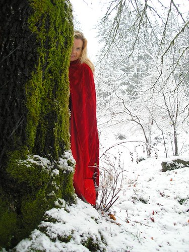 Hiding by the Mossy Tree