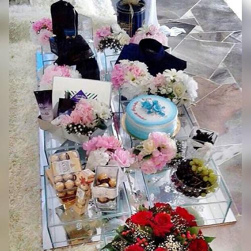 Best decorations on Kadinika.com Hantaran reception for Aza at dewan bakawali,bangunan LKPIM,Kuantan.alhamdullilah syukur...Thanks yunx smoga bahagia till Jannah.aamiin yra... pelamin,transparentcanopy,photobooth,candybooth,hantaran,dress,decoration dll d