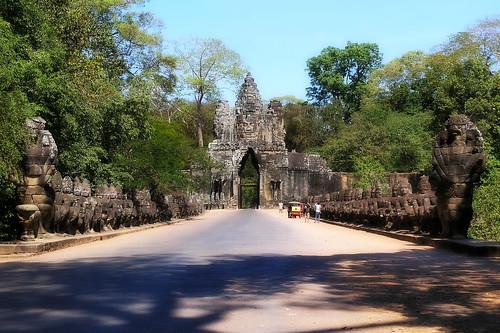 Cambodia - Angkor Thom - South Gate - 3b