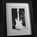 Jimi Hendrix with a 3d printed Strat in a picture frame