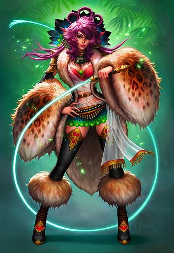 970x1411_11887_Commission_Zhiva_2d_fantasy_elf_female_creature_pink_girl_woman_warrior_picture_image_digital_art