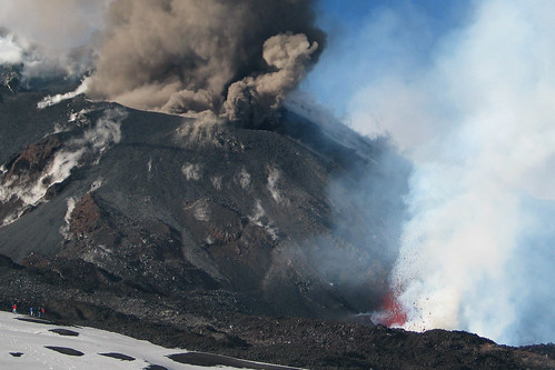 Ash and lava at Mt. Etna
