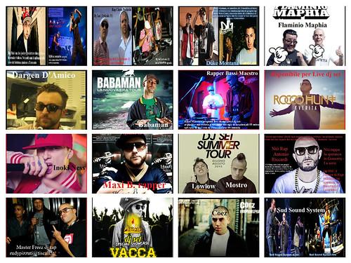 Rap dj set  e-mail agenzia.rudypizzuti@libero.it   http://www.rudypizzutimanagement.com/index.html Duke Montana,Inoki Ness, Bassi Maestro,Babaman,Vacca,Maxi B,Flaminio Maphia,Max Brigante,Danger D'Amico,Power Francers,Rancore&Dj Myke,Baby K,Rocco Hunt,Two