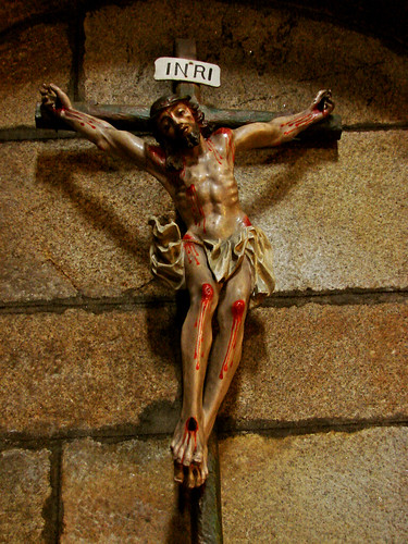 Cristo na cruz no convento de Cambados