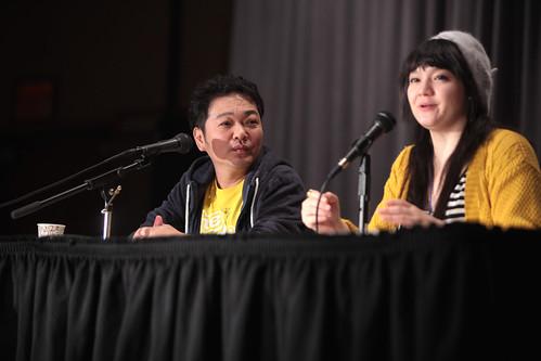 Kappei Yamaguchi with translator