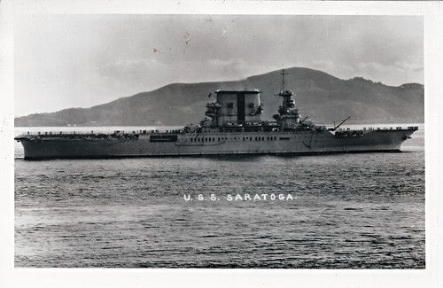 USS Saratoga (CV-3), Aircraft Carrier, WWII
