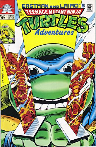 TEENAGE MUTANT NINJA TURTLES ADVENTURES #41 / ..cover art by LAIRD & Ryan Brown (( 1993 ))