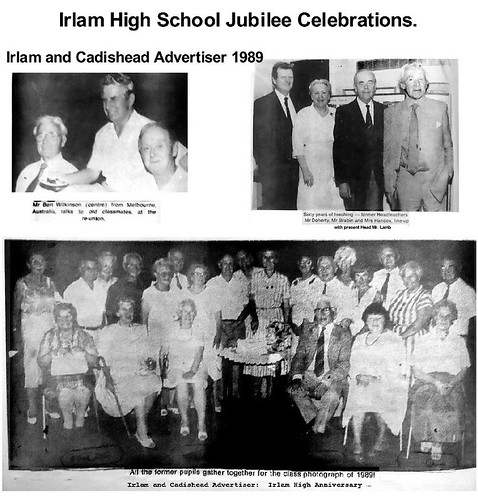 Irlam High School Jubilee Celebrations 1989.