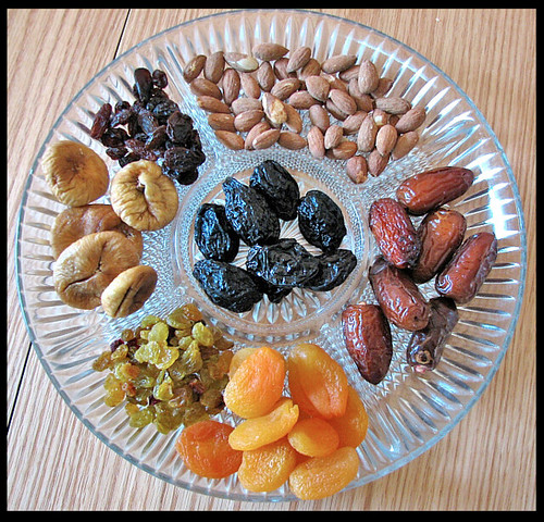 Tu BiShvat Is The Birthday of The Trees!! <<>> Dried fruit and almonds traditionally eaten on Tu BiShvat