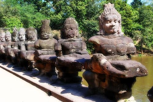 Cambodia - Angkor Thom - South Gate - 5b