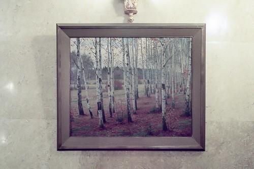 Gemälde im Foyer, Botschaft der Russischen Föderation in Berlin (DDR), 2016 / Посольство РФ, Берлин, ГДР,  35 mm ISO 200