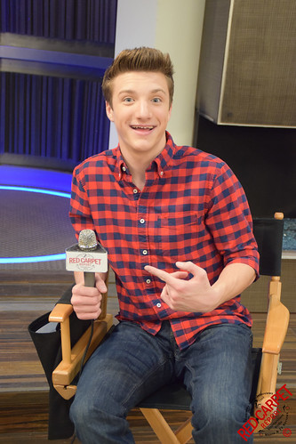 Jake Short on set with cast of Disney XD's new series