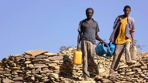Thanks to the USAID-supported Gamad watershed, these villagers have a nearby source of water.