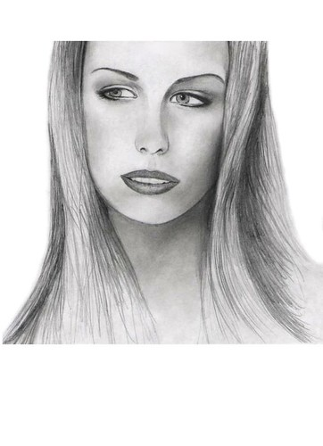 Drawing of Sara Lumholdt from A-Teens