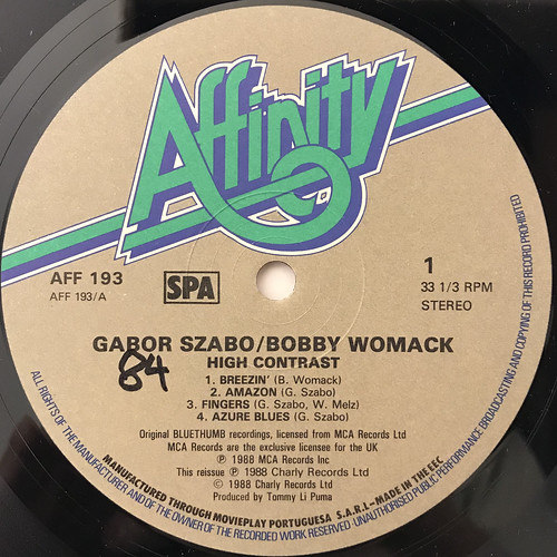 GABOR SZABO, BOBBY WOMACK:HIGH CONTRAST(LABEL SIDE-A)