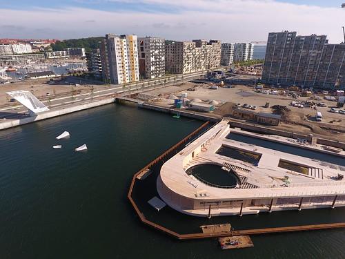 Havnebadet 4. juni 2018. Dronefoto: Kirsten Lippert Olesen
