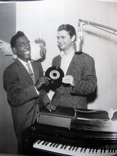 Rosco Gordon and Sam Phillips, for The Chicken 'Dance With You', Sun Records, 706 Union Ave., Memphis TN - Circa 1955