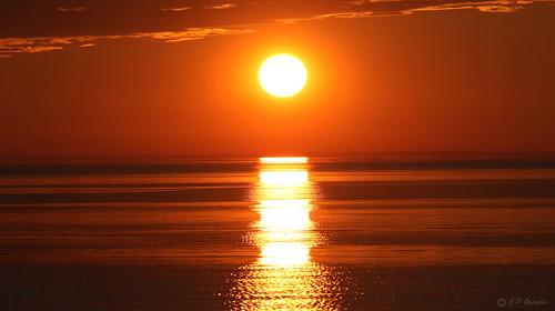 SUNSET OVER  ST. LAWRENCE RIVER  |   REFORD GARDENS   | LES JARDINS DE METIS  |  COUCHER DE SOLEIL  |   GASPESIE  |  QUEBEC   |  CANADA