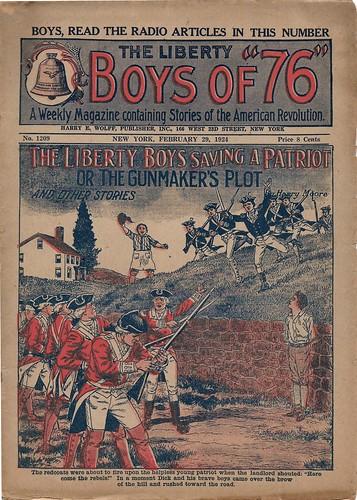 Firing squad patriotic dime novel cover
