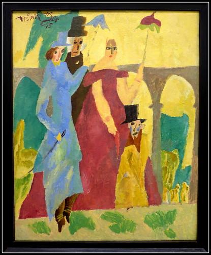 Lyonel Feininger (1871 - 1956) - Promenade in Arcueil (1915)