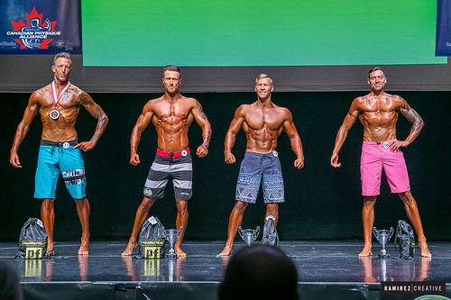 Men's Physique Tall 4th Mark Brown 2nd Kevin Lloyd 1st Jaden Cahoon 3rd Kevin Winters