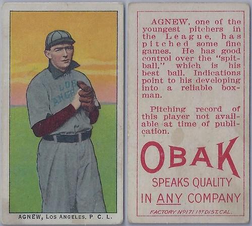 1911 T212-3 Obak Cigarettes Baseball Card - JIMMY