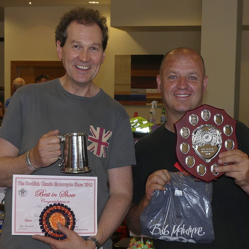 Kevin Carmichael presents the awards at the 29th Scottish Classic Motorcycle Show - 2018 - Ayr
